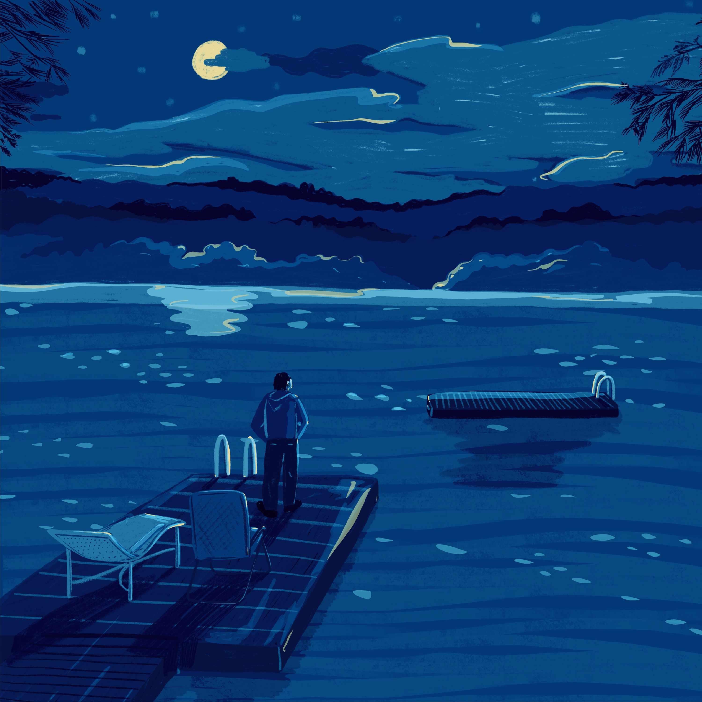 Moonlight at the Lake